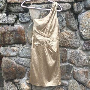 Gold One Shoulder Dress